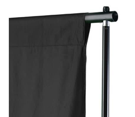 vidaXL Toile de fond Coton Noir 500 x 300 cm[3/4]