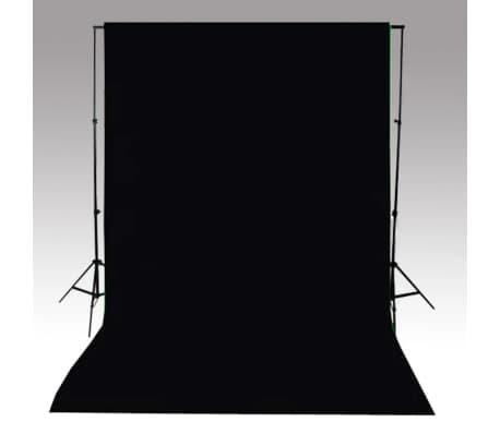 vidaXL Toile de fond Coton Noir 500 x 300 cm[4/4]