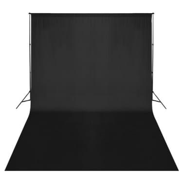 vidaXL Toile de fond Coton Noir 500 x 300 cm[2/4]