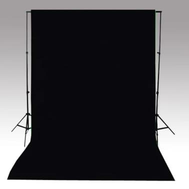 vidaXL Achtergrond 500x300 cm katoen zwart[4/4]