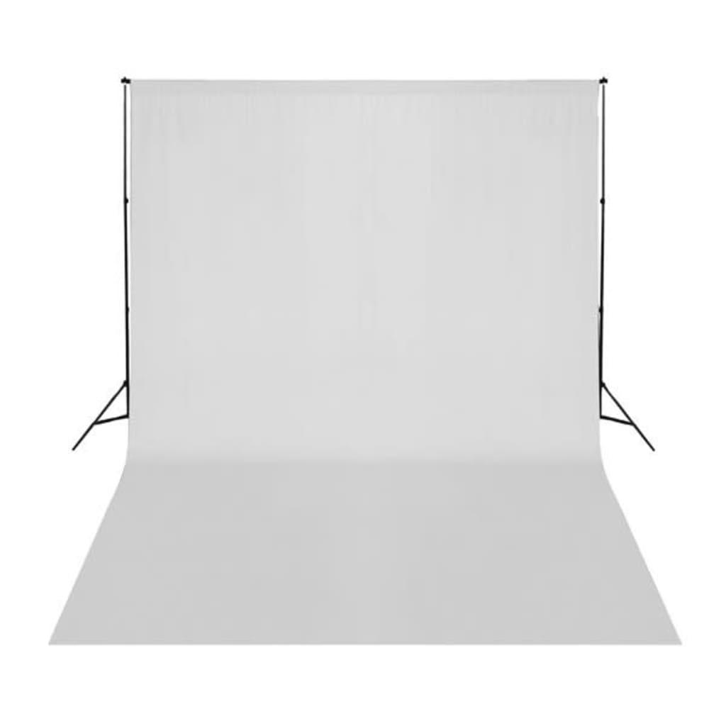 vidaXL Achtergrond 500x300 cm katoen wit