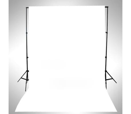 vidaXL Backdrop Cotton White 16x10 feet[4/4]