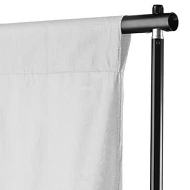 vidaXL Backdrop Cotton White 16x10 feet[3/4]