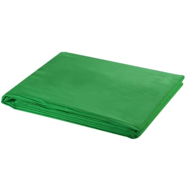 vidaXL Backdrop Cotton Green 20 x 10 feet Chroma Key[1/4]