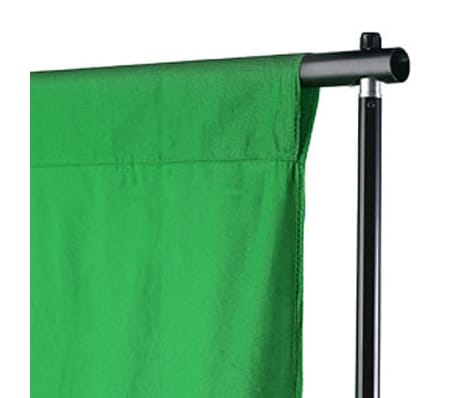 vidaXL Backdrop Cotton Green 20 x 10 feet Chroma Key[3/4]