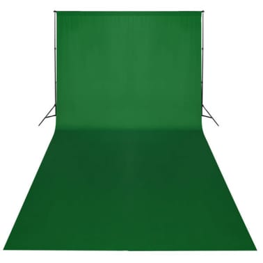 vidaXL Backdrop Cotton Green 20 x 10 feet Chroma Key[2/4]