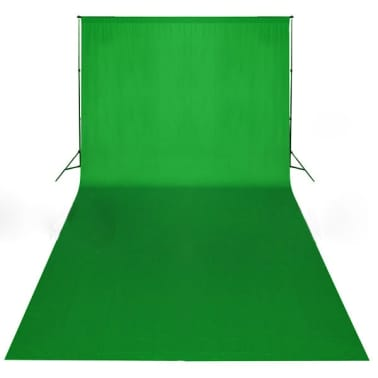 vidaXL Backdrop Cotton Green 20 x 10 feet Chroma Key[4/4]
