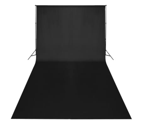 vidaXL Backdrop Cotton Black 20 x 10 feet[2/4]