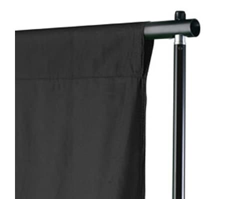vidaXL Backdrop Cotton Black 20 x 10 feet[3/4]