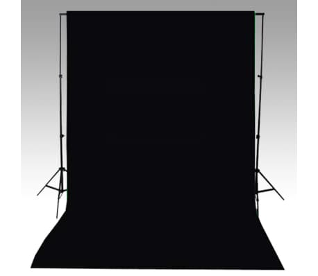 vidaXL Backdrop Cotton Black 600x300 cm[4/4]