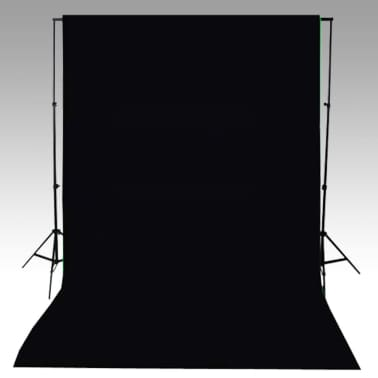 vidaXL Backdrop Cotton Black 20 x 10 feet[4/4]