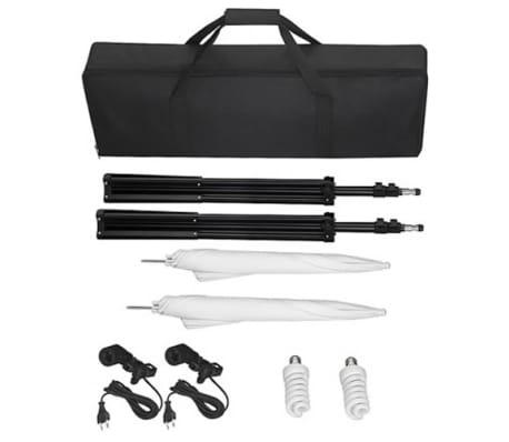 Kit de studio photo avec lampes pieds et parapluies[4/5]