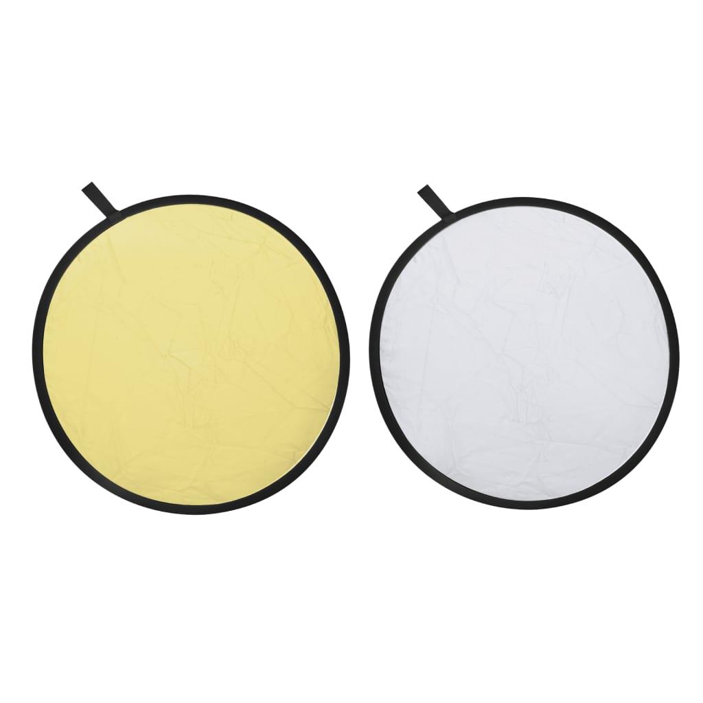 Kruhová odrazová deska 2 v 1 - zlatá / stříbrná - průměr 80 cm