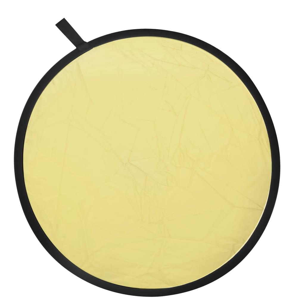 999190021 Studiolampe Faltreflektor 2-in-1 80 cm Gold und Silber