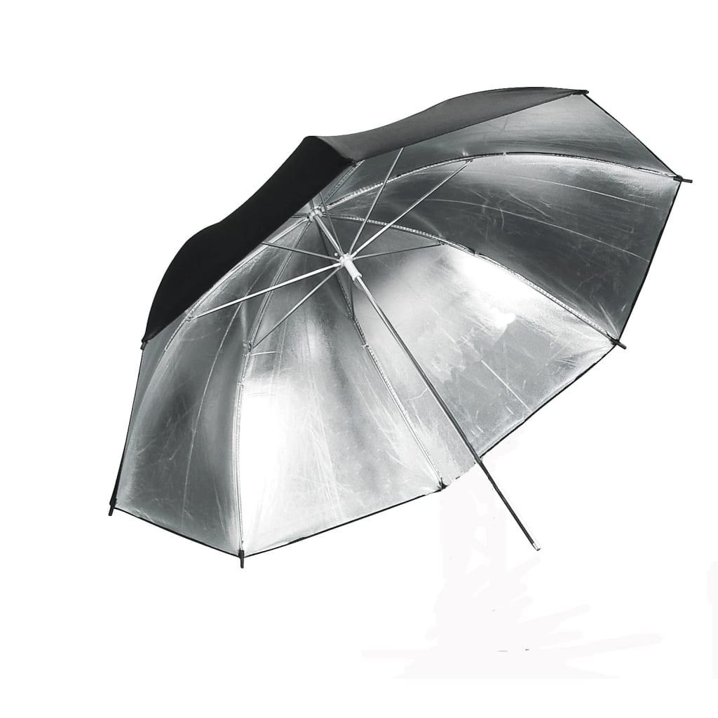 Afbeelding van vidaXL Flitsparaplu zilver Ø 84 cm.