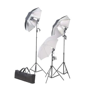 vidaXL Studiobelysningssett: 24 watt stativ og paraplyer[1/7]