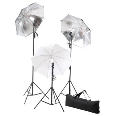 vidaXL Studiobelysningssett: 24 watt stativ og paraplyer[2/7]