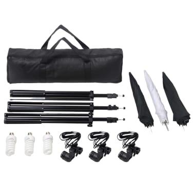 vidaXL Studiobelysningssett: 24 watt stativ og paraplyer[3/7]