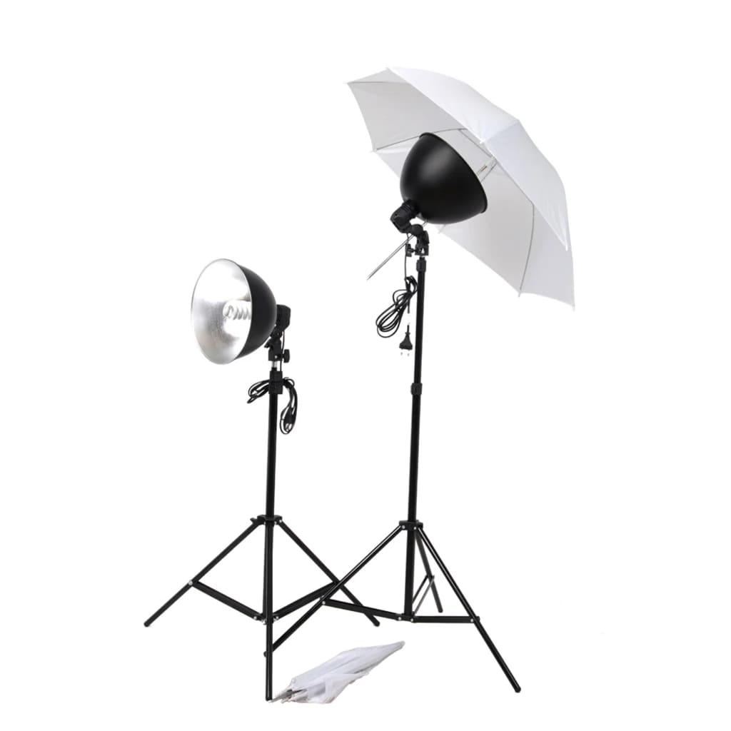 Sada studiových světel: deštníky, stínidla a stativy