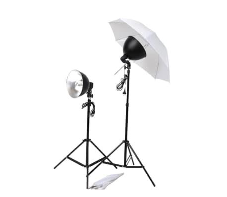 vidaXL Fotostudijos apšvietimo rinkinys: skėčiai, gaubtai ir trikojai