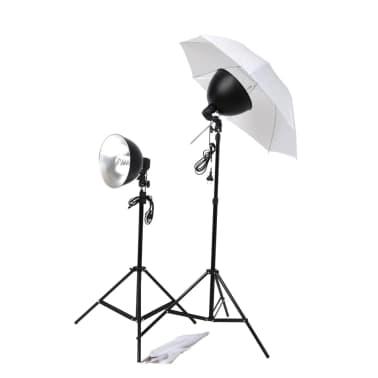 vidaXL Studiobeleuchtung-Set: Schirm-Softbox, Lampenschirme & Stative[1/6]