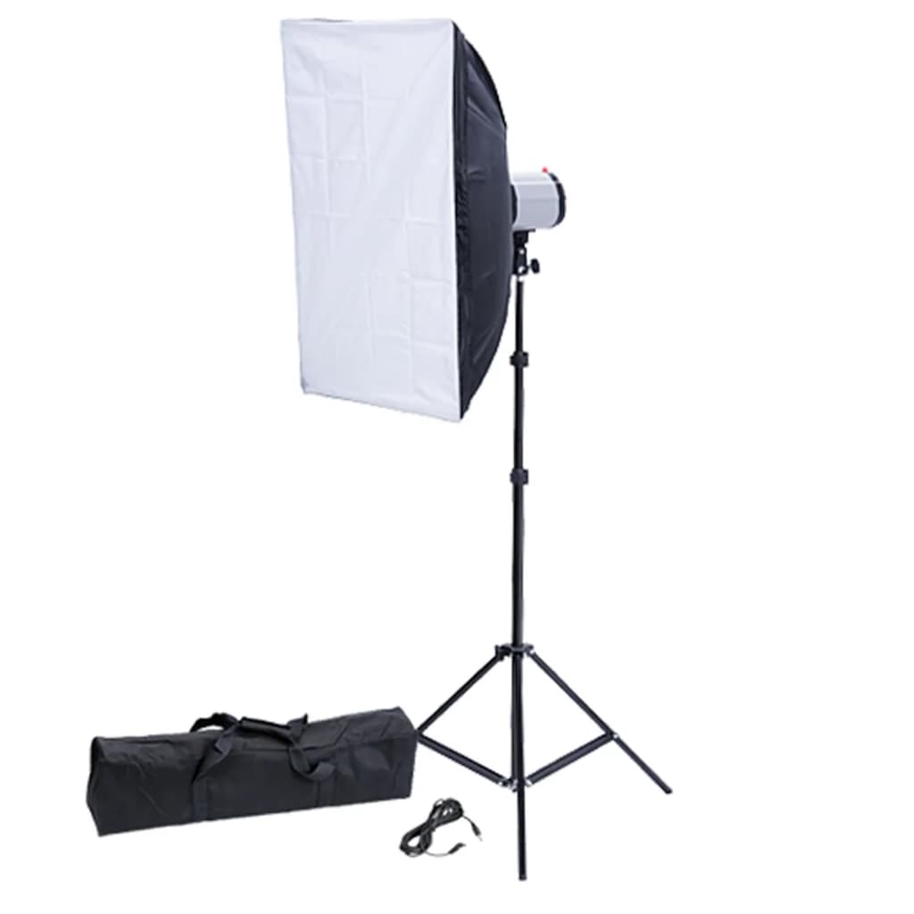 Blitz studio 120 W/s cu softbox 50 x 70 cm și trepied imagine vidaxl.ro