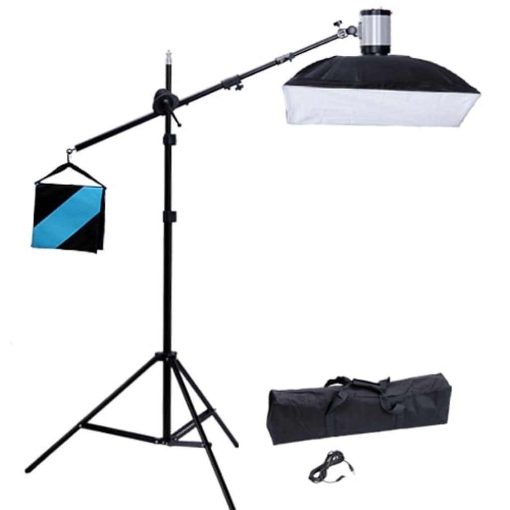 Blitz studio 120 W/s, softbox 50 x 70 cm și stativ cu braț boom vidaxl.ro
