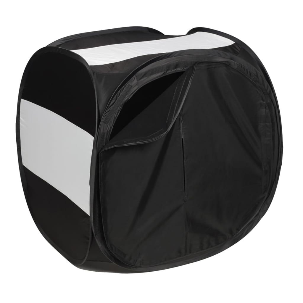 Afbeelding van vidaXL Fotocube zwart 150 x 150 cm.