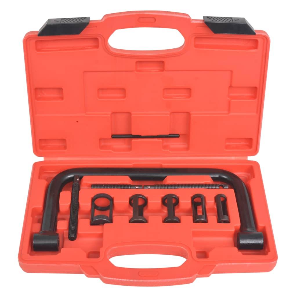 Sada nástrojů s pružinovým kompresorem a ventilem, 10 dílů