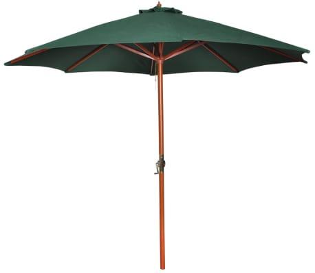 Parasol przeciwsłoneczny w kolorze zielonym o wysokości 258 cm.[1/7]