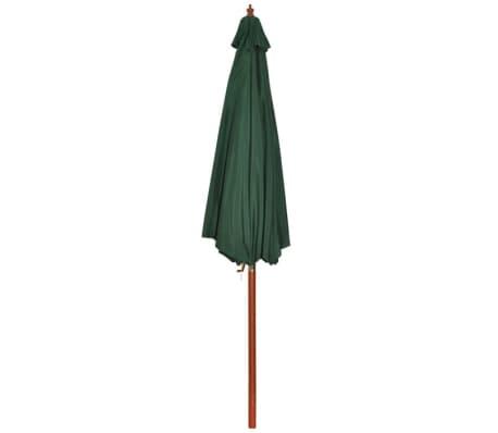 acheter parasol sur pied toile verte bois 258 cm pas cher. Black Bedroom Furniture Sets. Home Design Ideas