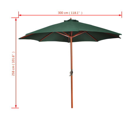 Parasol Green 258 cm.[7/7]