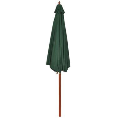 Parasol przeciwsłoneczny w kolorze zielonym o wysokości 258 cm.[6/7]