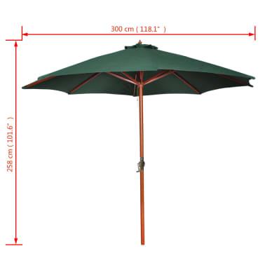 vidaXL Parasoll 300 cm grön[7/7]
