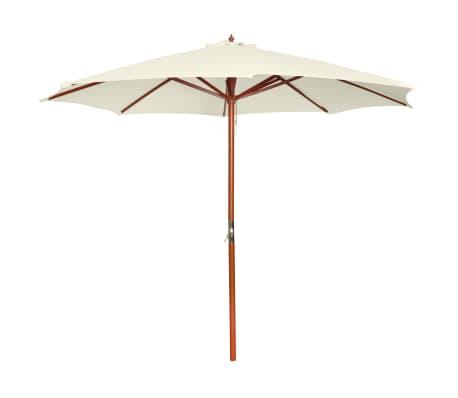 vidaXL parasol 300 x 258 cm hvid[1/7]