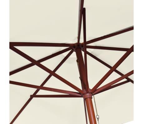 vidaXL parasol 300 x 258 cm hvid[6/7]