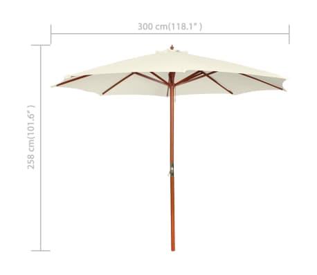 vidaXL parasol 300 x 258 cm hvid[7/7]