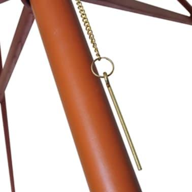 vidaXL parasol 300 x 258 cm hvid[4/7]