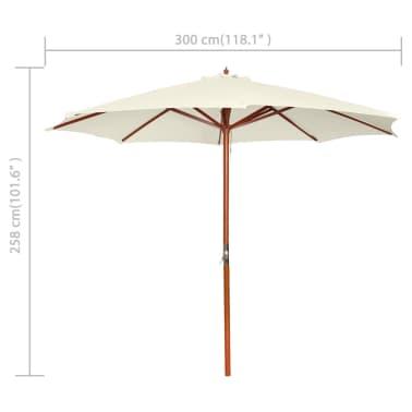 acheter parasol sur pied toile blanche bois 258 cm pas. Black Bedroom Furniture Sets. Home Design Ideas