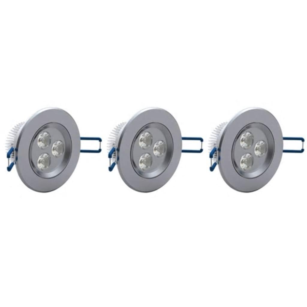 3 x 3 W LED bodové světlo 9 cm