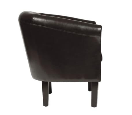 acheter vidaxl fauteuil chesterfield avec repose pied antique marron pas cher. Black Bedroom Furniture Sets. Home Design Ideas