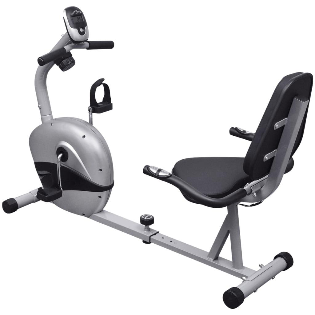 Bicicletă fitness orizontală cu volantă magnetică 3 kg vidaxl.ro