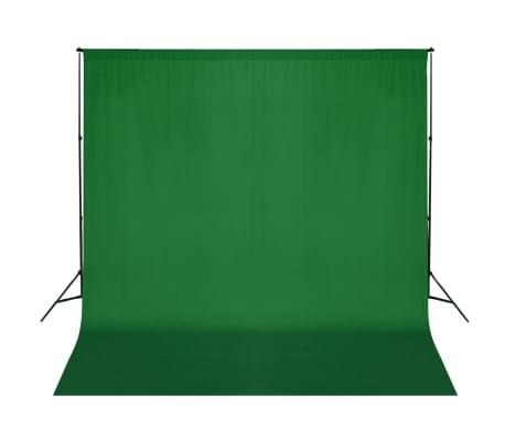 vidaXL Fotohintergrund-System 600 x 300 cm Grün[1/8]