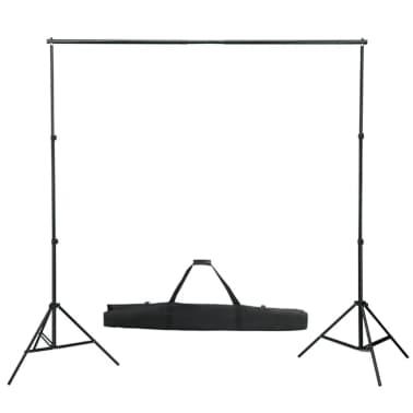 vidaXL Fotohintergrund-System 600 x 300 cm Grün[2/8]