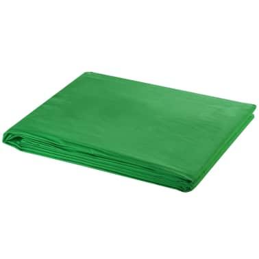 vidaXL Achtergrondondersteuningssysteem 600x300 cm groen[4/8]
