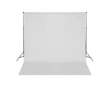 vidaXL Système de support de toile de fond 600 x 300 cm Blanc[1/8]