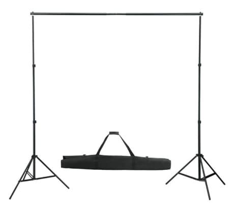 vidaXL Système de support de toile de fond 600 x 300 cm Blanc[2/8]