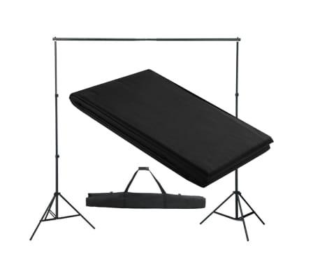 vidaXL Système de support de toile de fond 300 x 300 cm Noir[1/4]