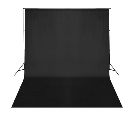 vidaXL Système de support de toile de fond 300 x 300 cm Noir[2/4]