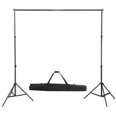 vidaXL Système de support de toile de fond 300 x 300 cm Noir[4/4]